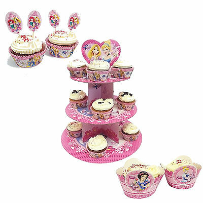Disney Princess Girls Birthday Cake Stand, Cake Cases, Wrappers & Toppers!