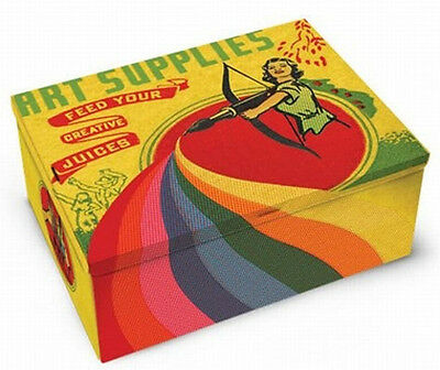 Coole Retro ART SUPPLIES Feed Your Creative Juices Dose / Blechdose Rockabilly