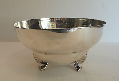"""Lovely Art Deco Mid-Century Sterling Silver 8"""" Footed Bowl, 533 Grams"""