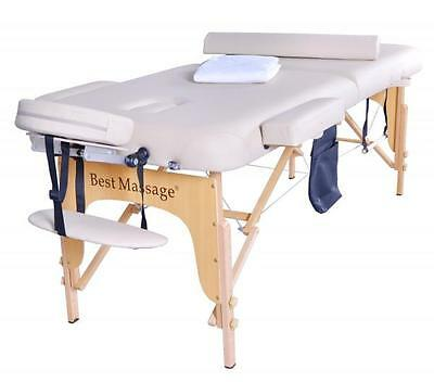 """2.5"""" Massage Table Portable Facial SPA Bed W/Sheet+Cradle Cover+Bolster+Hanger C"""