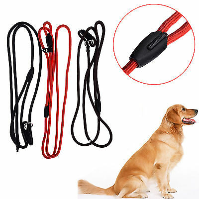 Pet Dog Strong Nylon Rope Slip Training Leash Walking Lead Collar Adjustable CO