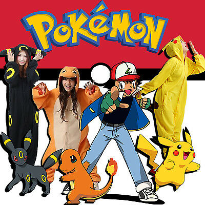 Pokemon Kigurumi charmandar onesie Umbreon Jumpsuit pikachu onesie Fast shipping