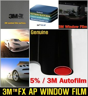 "3M/TM WIDE:30""/VLT5% Black Solar Film/Tint/Window/Glass/Normal/Privacy/Roll/"