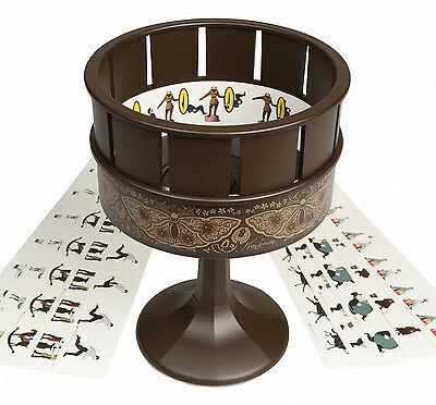 Zoetrope Animation as in film The Woman In Black   Traditional Classic Toy Brown