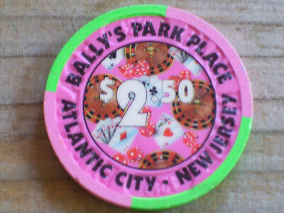 $2.50 3Rd Edt Chip From Bally's Park Place Casino Atantic City