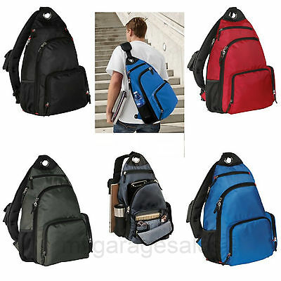 Single Sling Pad Shoulder Backpack Book Bag College School Travel Commuter Bag