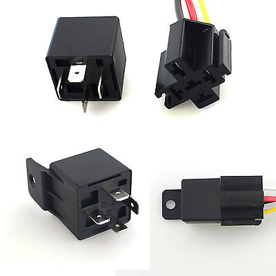 Car 40A AMP DC 12V Relay Kit SPST For Fan Fuel Pump Light Horn 5 Pin Hot Style