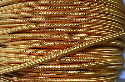 1 Meter Gold Silk Covered 3 Core Light Flex Wire Braided Cord Hanging Lamp B4