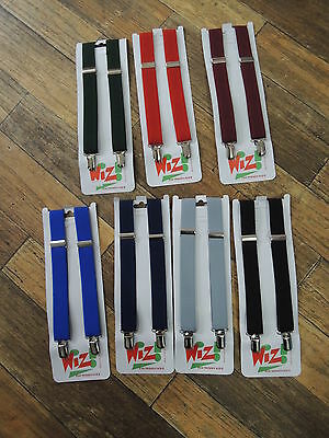 Boys braces black, navy,royal blue, red, burgundy, grey,green silver 0-8 years