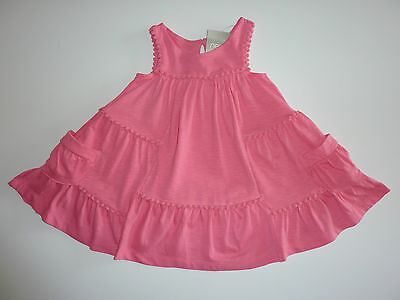 NEXT Really Cute Little Pink Pompom Sleeveless Dress NWT