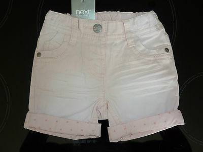 NEXT Gorgeous Little Pink Shorts with adjustable waist NWT