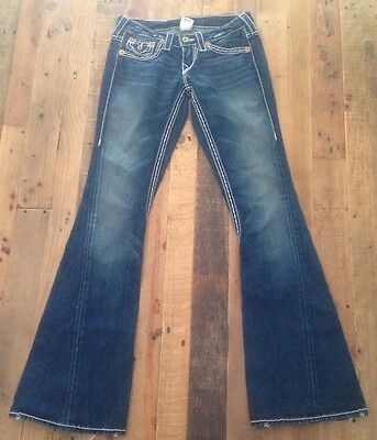 TRUE RELIGION Joey Big T Ladies Denim Blue Jeans Size 26