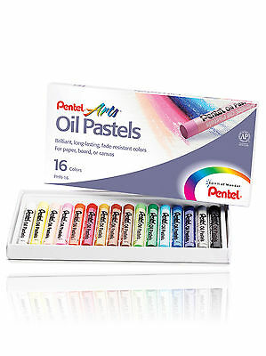 Pentel Artists  Oil Pastels 16 Brilliant Colours