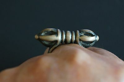 Very Old Rare Sky Iron Vajra Dorje Ring Collection Tibetan