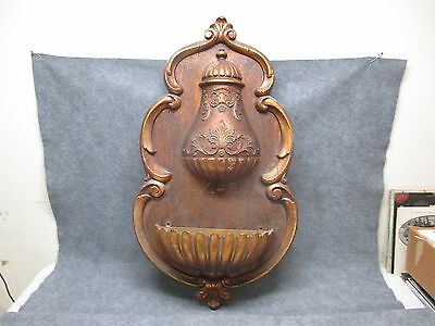 Large SYROCO Wall Art Faux Fountain Hanging Wall Pocket Planter Home Decor 1972