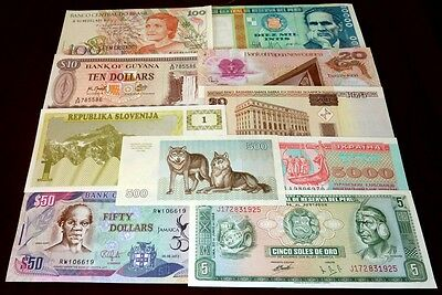 Worldwide Banknotes UNC x 10 PCS