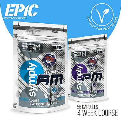 SSN Symply24 24 Hour Dual Weight Loss Diet Slimming Pills (4 Week Course)
