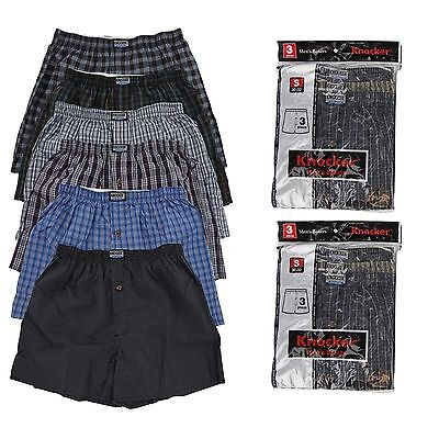 New 6 pc Knocker Mens Plaid  Boxer Short Trunk Underwear Lot Cotton Size S-3X
