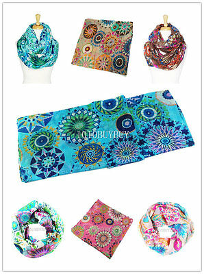 US Wholesaler 12PC -Assorted Colors- Fireworks Soft Infinity Scarf #6051