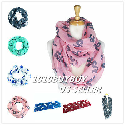 US Wholesaler 12PC -Assorted Colors- Squirrels Soft Infinity Scarf #6047
