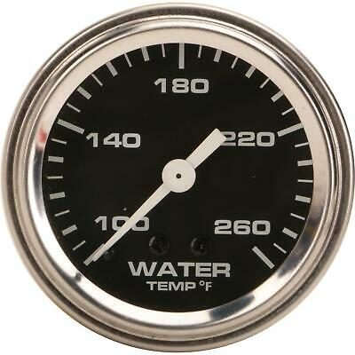 Speedway Mechanical Water Temperature Gauge, 2-1/16 Inch, Black