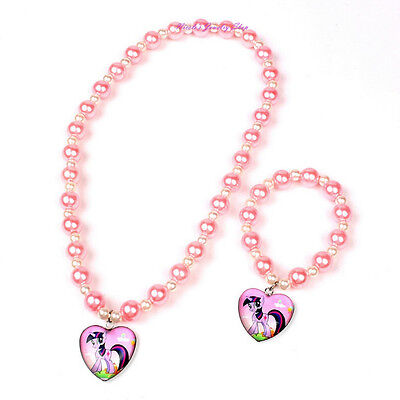 Gorgeous Girls My little Pony Children's Jewelry Set Necklace Bracelet