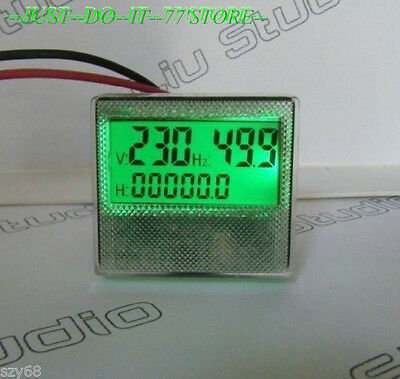 New AC 80-300V/30-70Hz 3in1 LCD Time Voltage Frequency Combo Meter For Generator