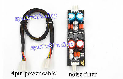 Computer 4 Pin FAN Power Noise Filter for PC Isolation HiFi Power Purification