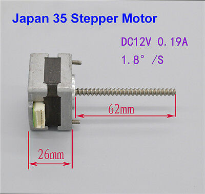 12V 35mm Stepper Motor 2 Phase 4 Wire / 6 Wire Stepping Motor 1.8° Ball Bearing