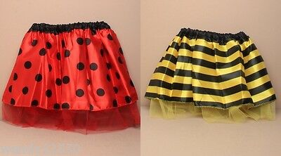 Pack Of 3 Child Size Satin & Net Tutu / Tu-Tu : Dance : Party : Fancy Dress