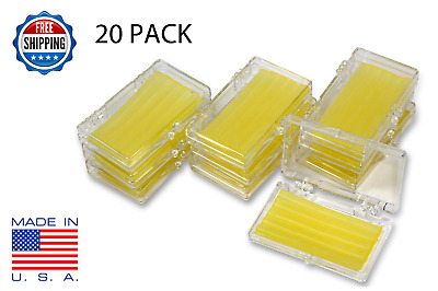 20 Pack Orthodontic WAX For BRACES Irritation - LEMON SCENTED - Dental Relief