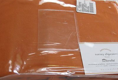 Pottery Barn Torrey Slipcover Armless Outdoor Sectional Sunbrella Tuscan Orange