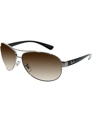 Ray-Ban Men's Gradient Active RB3386-004/13-67 Silver Aviator Sunglasses