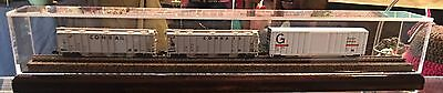"""24"""" N Scale Train Display Case - Includes Track And Roadbed"""