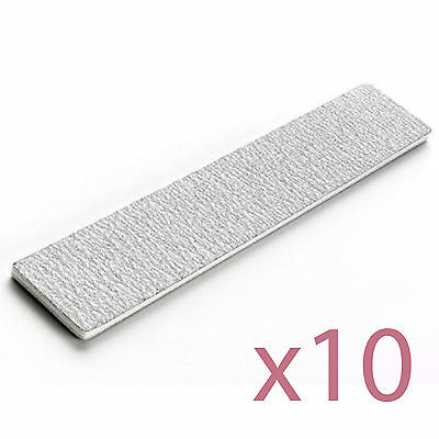 10 Pack Zebra Grit Files 100/180 Professional Buffers for Nail & Manicure Care