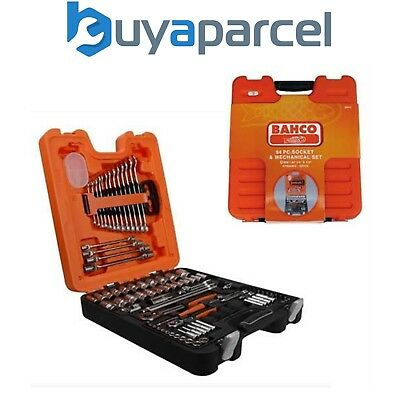 Bahco S877 S87+7 94 Piece Socket & Spanner Wrench Set 1/4 & 1/2in Drive