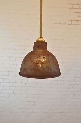 Small Steampunk Rusty Steel Ceiling Hanging Lightshade Lamp Shade Light Rsp4