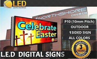 P10 (Single SIDE) 4FT x 8FT (Full color) Programmable LED Digital Sign OUTDOOR