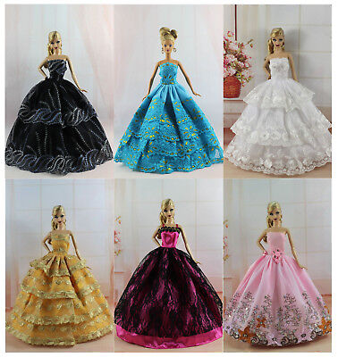 Handmade 4 PCS Fashion Princess Pary Dress/Clothes/Gown For 11.5in.Doll N02