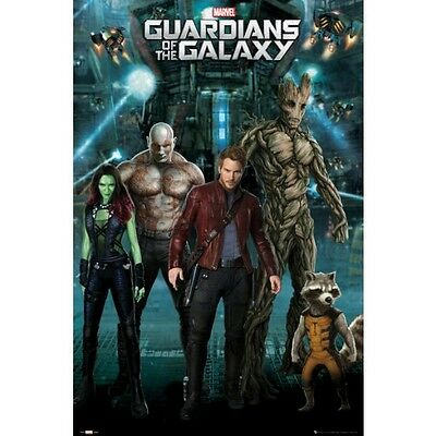 GUARDIANS OF THE GALAXY Movie Poster - Marvel Cast Full Size 24x36 ~ Starlord