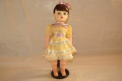 Young Lady Doll in Yellow Organza Dress