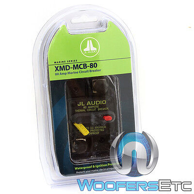 Jl Audio Xmd-Mcb-80 Amp Car Marine Boat Water-Proof Amplifier Circuit Breaker