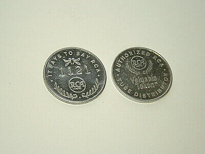 1960s RCA Radio TV Tube Pays To Say Authorized Distributor Valuable Token Coin