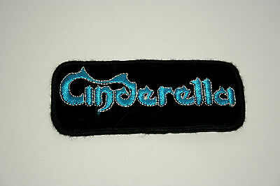 Vintage Cinderella Rock Group Music Hair Band Cloth Patch New NOS 1980s