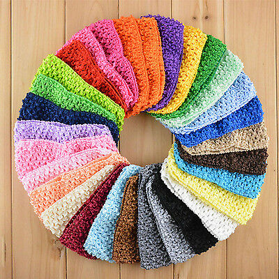 "COOL 10 Pcs New 1.5"" Crochet Headbands Hair Bnad Hairband Bow Kid Baby Toddler"