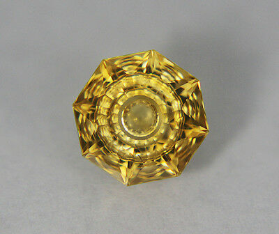 Citrine. Flat Facet With Carving.12mm. 5.55 cts. Beautiful Stone.