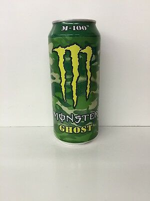 Monster Energy Drink 16oz M-100 GHOST Sealed Can.1 Single Full Can