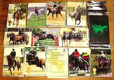 Equestrian Very Rare Set of 275 Mint Trading Cards Eventing, Dressage, Carriage