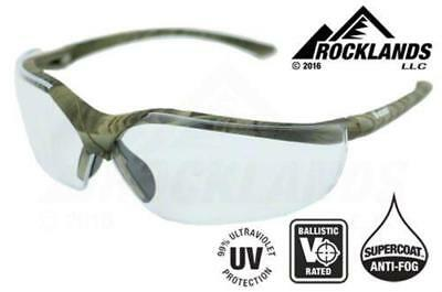 Elvex Acer™ Safety/Tactical/Glasses Camo Frame/Clear Lens Ballistic Rated Z87.1