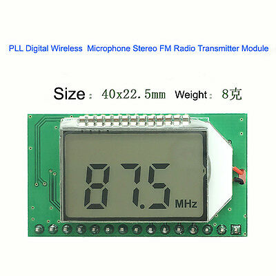 PLL Digital Wireless Microphone Stereo FM Radio Transmitter Module 87-108MHZ